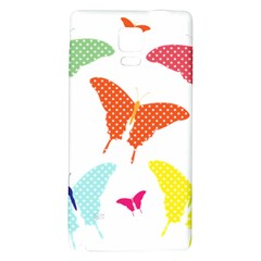 Beautiful Colorful Polka Dot Butterflies Clipart Galaxy Note 4 Back Case