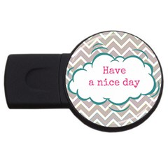 Have A Nice Day Usb Flash Drive Round (2 Gb)