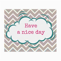 Have A Nice Day Small Glasses Cloth (2 Side)