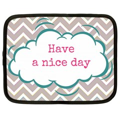 Have A Nice Day Netbook Case (Large)