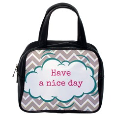 Have A Nice Day Classic Handbags (one Side)
