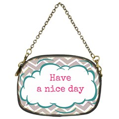 Have A Nice Day Chain Purses (One Side)