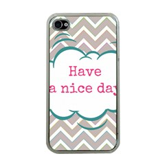 Have A Nice Day Apple Iphone 4 Case (clear)