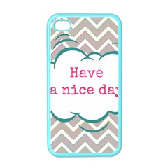 Have A Nice Day Apple Iphone 4 Case (color)