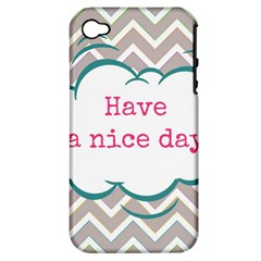 Have A Nice Day Apple iPhone 4/4S Hardshell Case (PC+Silicone)
