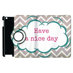 Have A Nice Day Apple Ipad 3/4 Flip 360 Case