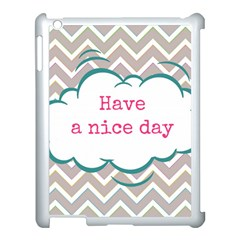 Have A Nice Day Apple Ipad 3/4 Case (white)