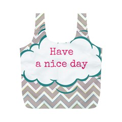 Have A Nice Day Full Print Recycle Bags (m)