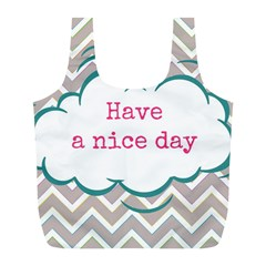 Have A Nice Day Full Print Recycle Bags (L)