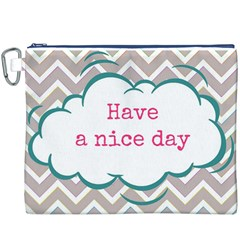 Have A Nice Day Canvas Cosmetic Bag (xxxl)