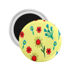 Flowers Fabric Design 2 25  Magnets