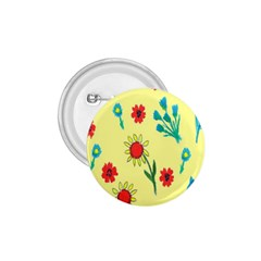 Flowers Fabric Design 1.75  Buttons