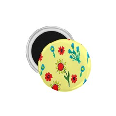 Flowers Fabric Design 1 75  Magnets