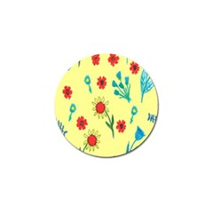 Flowers Fabric Design Golf Ball Marker (4 pack)