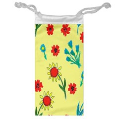 Flowers Fabric Design Jewelry Bag
