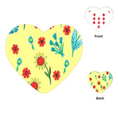 Flowers Fabric Design Playing Cards (Heart)