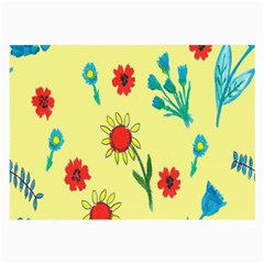 Flowers Fabric Design Large Glasses Cloth