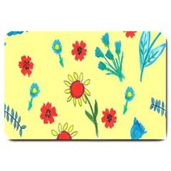 Flowers Fabric Design Large Doormat
