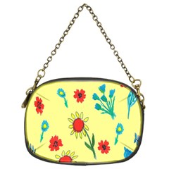 Flowers Fabric Design Chain Purses (Two Sides)