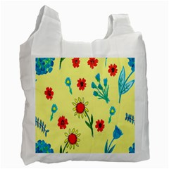 Flowers Fabric Design Recycle Bag (Two Side)