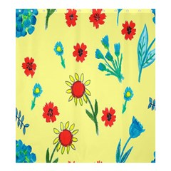 Flowers Fabric Design Shower Curtain 66  X 72  (large)