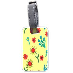 Flowers Fabric Design Luggage Tags (one Side)