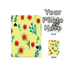 Flowers Fabric Design Playing Cards 54 (Mini)