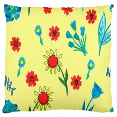Flowers Fabric Design Large Cushion Case (Two Sides)