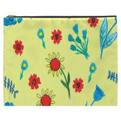 Flowers Fabric Design Cosmetic Bag (XXXL)