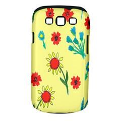 Flowers Fabric Design Samsung Galaxy S Iii Classic Hardshell Case (pc+silicone)