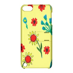 Flowers Fabric Design Apple iPod Touch 5 Hardshell Case with Stand