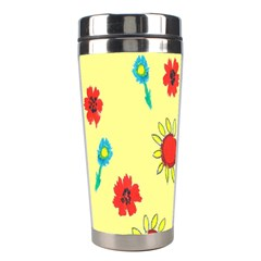 Flowers Fabric Design Stainless Steel Travel Tumblers