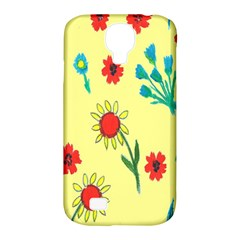 Flowers Fabric Design Samsung Galaxy S4 Classic Hardshell Case (PC+Silicone)