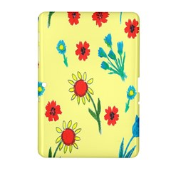 Flowers Fabric Design Samsung Galaxy Tab 2 (10 1 ) P5100 Hardshell Case
