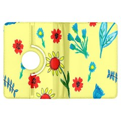 Flowers Fabric Design Kindle Fire Hdx Flip 360 Case
