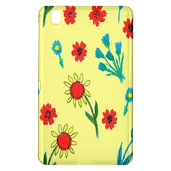 Flowers Fabric Design Samsung Galaxy Tab Pro 8 4 Hardshell Case