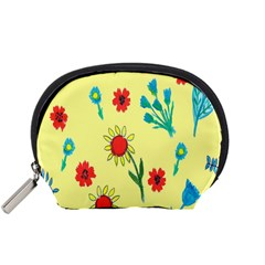 Flowers Fabric Design Accessory Pouches (Small)