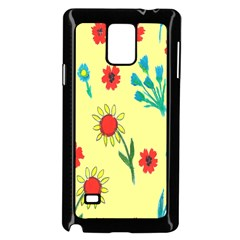 Flowers Fabric Design Samsung Galaxy Note 4 Case (black)