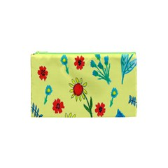 Flowers Fabric Design Cosmetic Bag (xs)