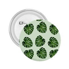 Leaf Pattern Seamless Background 2.25  Buttons