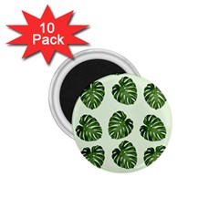 Leaf Pattern Seamless Background 1.75  Magnets (10 pack)