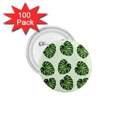 Leaf Pattern Seamless Background 1.75  Buttons (100 pack)