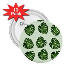 Leaf Pattern Seamless Background 2.25  Buttons (10 pack)