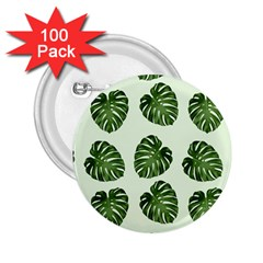Leaf Pattern Seamless Background 2.25  Buttons (100 pack)