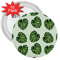 Leaf Pattern Seamless Background 3  Buttons (10 pack)