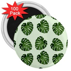 Leaf Pattern Seamless Background 3  Magnets (100 pack)