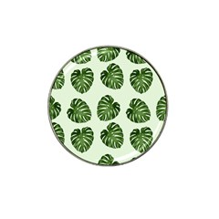 Leaf Pattern Seamless Background Hat Clip Ball Marker (4 pack)