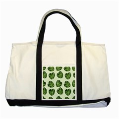 Leaf Pattern Seamless Background Two Tone Tote Bag