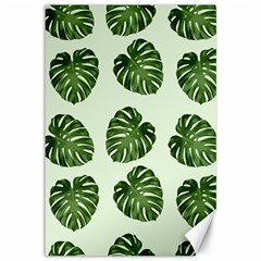 Leaf Pattern Seamless Background Canvas 12  x 18
