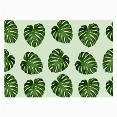 Leaf Pattern Seamless Background Large Glasses Cloth (2 Side)
